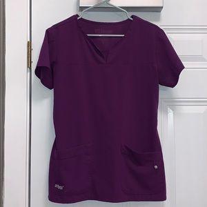 GREYS ANATOMY purple scrub top.